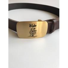 Кожаный ремень с символикой Кудо