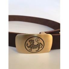 Кожаный ремень с символикой Шотокан