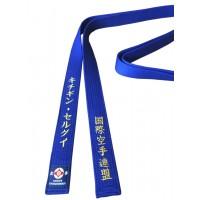 Цветной именной пояс IFK (Кёкусинкай)