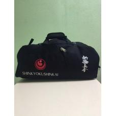 Спортивная сумка-рюкзак с вышивкой и эмблемой Шинкиокушинкай